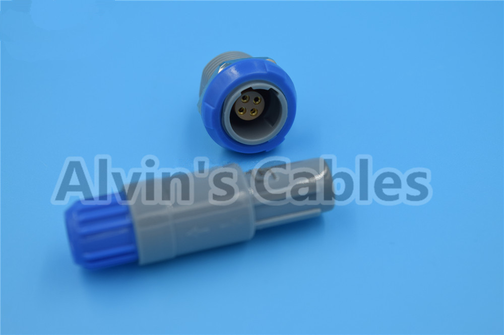 1 P Connector 4 Pin LEMO PAB / PLB Connector M0.4GL Wholesale And Retail Pin Connector Plugs / Sockets